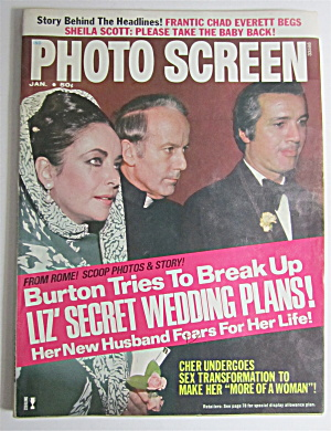 Photo Screen Magazine January 1974 Liz' Secret Wedding