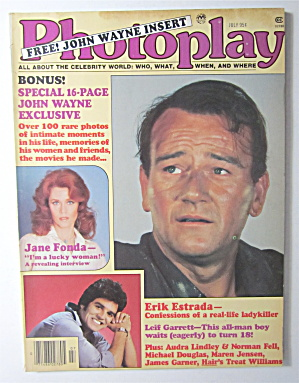Photoplay Magazine July 1979 John Wayne