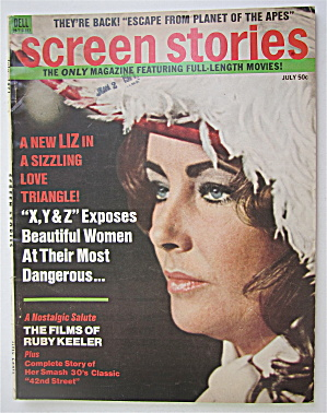 Screen Stories Magazine July 1971 Elizabeth Taylor