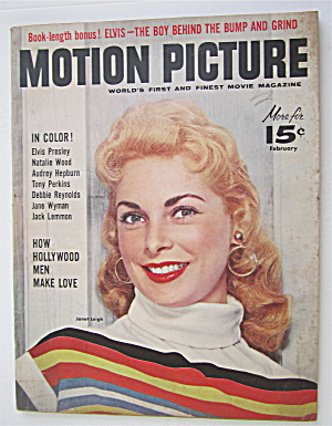 Motion Picture Magazine February 1957 Janet Leigh