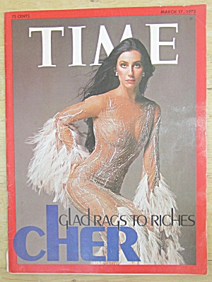 Time Magazine March 17, 1975 Glad Rags To Riches: Cher