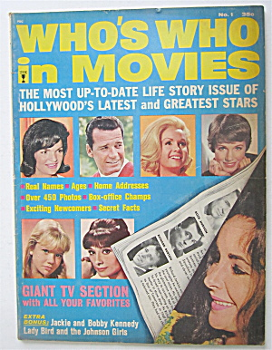 Who's Who In Movies Magazine 1964 Latest & Great Stars