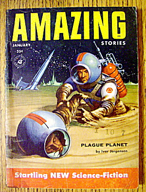 Amazing Stories Magazine January 1955 Plague Planet
