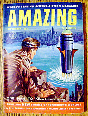 Amazing Stories Magazine September 1955 One Man To Kill