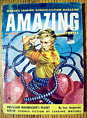 Amazing Stories Magazine December 1955 Prof Mainbocher