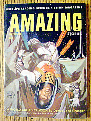 Amazing Stories Magazine September 1956 Crimson