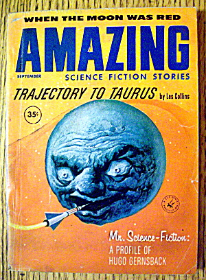 Amazing Stories Magazine September 1960 Moon Was Red