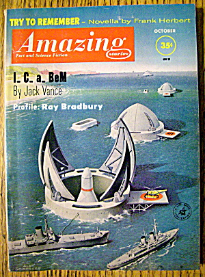 Amazing Stories Magazine October 1961 I. C. A. Bem