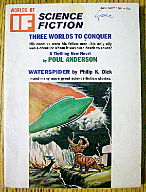 Worlds Of If Magazine January 1964 Waterspider