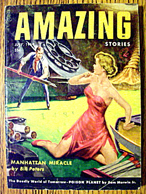 Amazing Stories Magazine July 1954 Manhattan Miracle