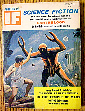 Worlds Of If Magazine April 1966 Earthblood