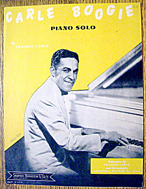 1945 Carle Boogie Piano Solo By Frankie Carle