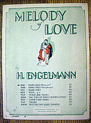 1930 Melody Of Love By H. Engelmann