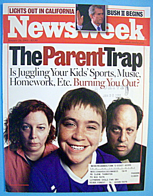 Newsweek Magazine-january 29, 2001-the Parent Trap