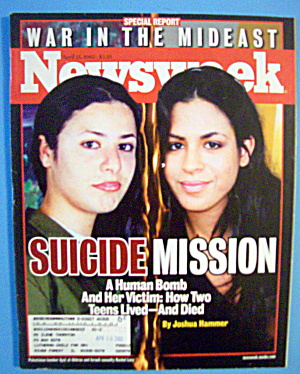 Newsweek Magazine-april 15, 2002-suicide Mission