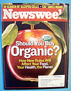 Newsweek Magazine-september 30, 2002-buy Organic