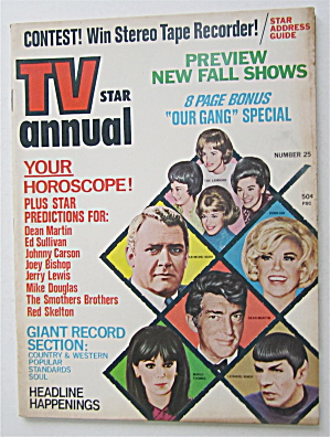 Tv Star Annual Magazine 1968 New Fall Shows