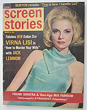 Screen Stories Magazine March 1965 Virna Lisi