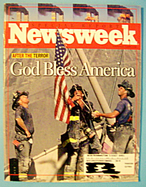 Newsweek Magazine-september 24,2001-god Bless America