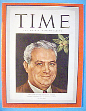Time Magazine-April 26, 1943-Bricker Of Buckeye State (Image1)