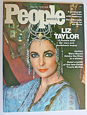 People Weekly Magazine May 19, 1975 Elizabeth Taylor