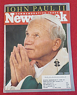 Newsweek Magazine-april 11, 2005-john Paul Ii