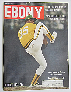 Ebony Magazine-october 1972-baseball's Vida Blue