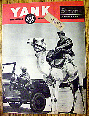 Yank Army Weekly Magazine November 23, 1945 Horse Trade