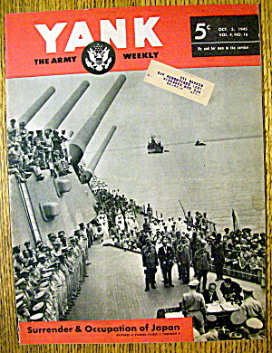 Yank Army Weekly Magazine October 5, 1945 Japan