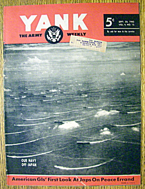 Yank Army Weekly Magazine September 28, 1945 Navy