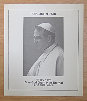 Pope John Paul I Memorial Handbill 1978  (Image1)