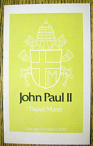John Paul Ii Papal Mass October 5, 1979 (Chicago)