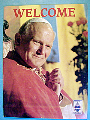 Pope John Paul Ii Welcome Souvenir Book September 1987
