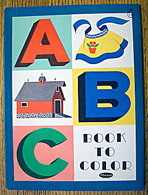 Abc Book To Color Coloring Book 1961 (Whitman)