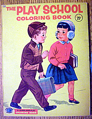 The Play School Coloring Book 1955 (Treasure Books)