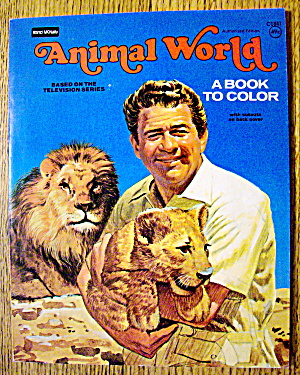 Animal World Coloring Book 1977 (Cut Out On Back Cover) (Image1)