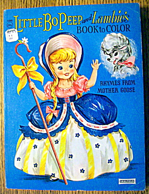 Little Bo Peep And Lambie's Book To Color 1960's (Image1)