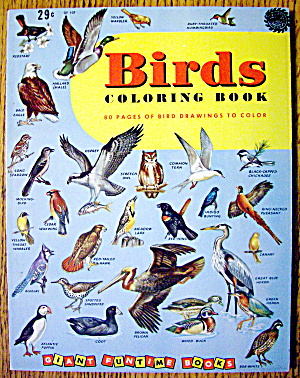 Birds Coloring Book 1956 (80 Pages Of Birds To Color) (Image1)