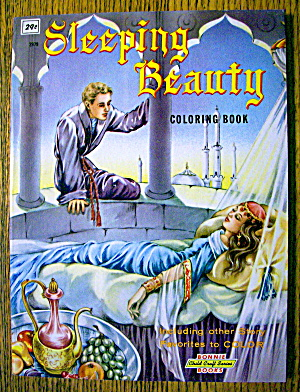 Sleeping Beauty Coloring Book 1960's (Bonnie Books)