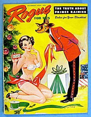 Rogue For Men Magazine December 1956 Prince Rainier