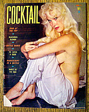 Cocktail Magazine 1960 Bottle Babes & Babes At The Bar