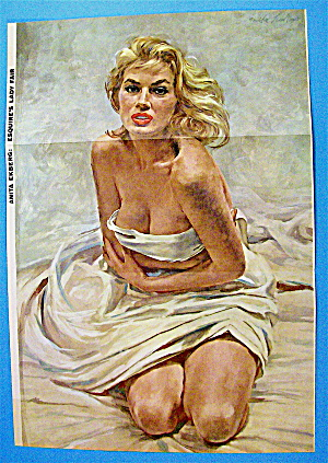 Esquire (Lady Fair) Pin Up Girl 1955 Anita Ekberg (Image1)