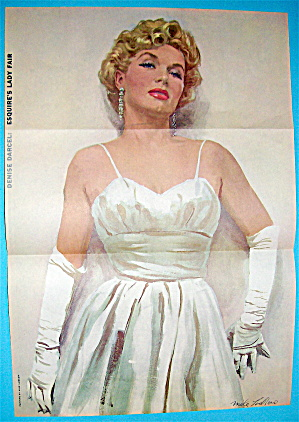 Esquire (Lady Fair) Pin Up Girl 1956 Denise Darcel