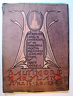 Baltimore Maryland Union Convention Book 1902 (Image1)