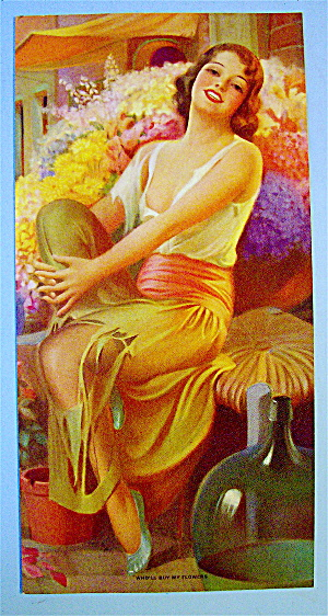 1930's Who'll Buy My Flowers Colortype Picture