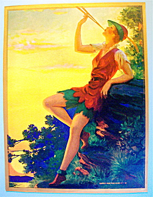 Lithograph/Picture 1930's Softly Play The Pipes Of Fan (Image1)