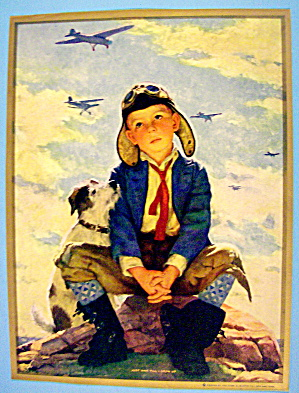 Lithograph 1930's Just Wait Till I Grow Up