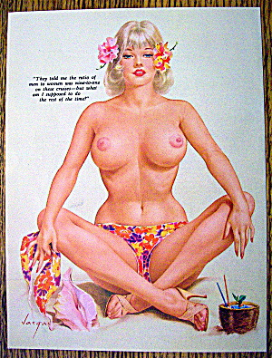 Alberto Vargas Pin Up Girl August 1963 Ratio Of Men