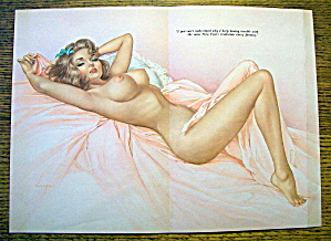 Alberto Vargas Pin Up Girl January 1965 New Year's