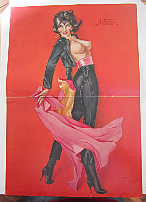 Alberto Vargas Pin Up Girl December 1965 Woman & Cape